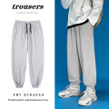 Casual pants Others Youth fashion Black, gray M. L, XL, 2XL, s small, XS plus small routine trousers Other leisure easy Micro bomb spring youth tide 2021 middle-waisted Polyester 100%