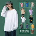 T-shirt Youth fashion Khaki, coffee, sapphire, light purple, lake blue, white, fluorescent green, pink, black, red, yellow, army green, light gray, dark gray, dark purple, dark green, grey blue routine M. L, XL, 2XL, 3XL, s small, XS plus small, 4XL, 5XL Others Long sleeves Crew neck easy daily 2021