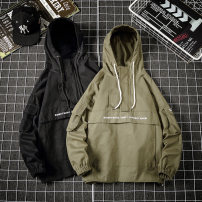 Jacket Other / other Youth fashion Black, army green M. L, s, XL, 2XL, 3XL, 4XL, 5XL, XS plus small routine easy Other leisure autumn Cotton 100% Long sleeves Hood tide teenagers routine
