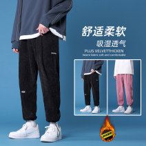Casual pants Others Youth fashion Gray, pink, black, light green, black plush S. M, l, XL, 2XL, 3XL, XS plus small routine Ninth pants Other leisure easy Micro bomb Four seasons teenagers tide 2020 middle-waisted Polyester 100% Sports pants Three dimensional tailoring No iron treatment
