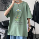 T-shirt Youth fashion White, black, Navy, yellow, army green routine M. L, XL, 2XL, s small, XS plus small Others elbow sleeve Crew neck easy daily summer
