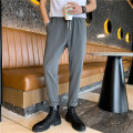 Western-style trousers Others Youth fashion Gray, black 28,29,30,31,32,33,34,36,26 plus small, 27 trousers Polyester fiber 77% viscose fiber (viscose fiber) 21% polyurethane elastic fiber (spandex) 2% easy spring leisure time teenagers Solid color 2021
