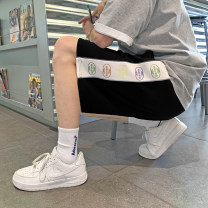 Casual pants Others Youth fashion Gray, black, light green, purple M. L, XL, 2XL, 3XL, s small, XS plus small thin Shorts (up to knee) Other leisure easy Micro bomb summer teenagers 2021 Sports pants