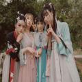 National costume / stage costume Summer of 2018 Jade Rabbit Purple Jade Rabbit Blue Flower If Pick up Autumn Phoenix Song Luan Happy Journey Toad Palace Drunken Red Makeup Music God According to the Mok Pavilion-like Noble Wind and Rain Shun Kingdom Thai People An Qing Xuan Nine Nights Wanniang Miao