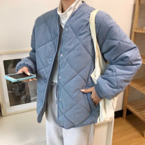 Cotton padded clothes Off white, blue, khaki, white 2849 Average size Winter 2020 Other / other routine Long sleeves thickening Single breasted commute stand collar routine Straight cylinder Solid color Korean version pocket 31% (inclusive) - 50% (inclusive) other other 18-24 years old