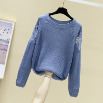 Wool knitwear Spring 2020 S M L XL Yellow black blue purple off white bright red light pink earth yellow Long sleeves singleton  Socket other More than 95% Regular routine commute easy Low crew neck routine Solid color Socket Korean version FBS00105 25-29 years old Feibasha Other 100%