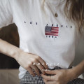 T-shirt Brick red white S M L Spring of 2018 Short sleeve Crew neck easy Regular routine street cotton 96% and above 18-24 years old letter