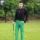 Golf apparel Black top, green trousers, top + trousers S,M,L,XL,XXL male ZG-6 Long sleeve T-shirt YN8801