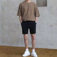 Casual pants Others Youth fashion black thin Shorts (up to knee) Other leisure Self cultivation Micro bomb 2020