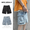 Jeans Youth fashion Others M,L,XL,2XL Blue, black No bullet Shorts (up to knee) Other leisure Medium low back zipper