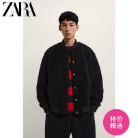 Jacket ZARA Fashion City black S (175/92A) M (180/96A) L (180/100A) routine standard Other leisure winter 08281409800-30 Polyester 100% Long sleeves Wear out stand collar Youthful vigor youth routine Cloth hem washing Closing sleeve Solid color Spring 2021 More than two bags) Cover patch bag