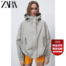 short coat Spring 2021 XS (160/80A) S (165/84A) M (170/88A) L (175/96A) Lake Green Long sleeves routine routine singleton  Versatile routine Hood Single breasted Solid color 25-29 years old ZARA 31% (inclusive) - 50% (inclusive) Button 02969079982-30 polyester fiber
