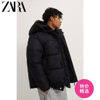 Jacket ZARA Fashion City black S (175/92A) M (180/96A) L (180/100A) XL (185/104A) XXL (190/108A) routine standard Other leisure winter Polyester 100% Long sleeves Wear out Hood Youthful vigor youth routine Zipper placket Cloth hem washing Closing sleeve Solid color Winter 2020 Zipper bag