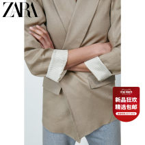suit Summer 2021 Beige XS (160/80A) S (165/84A) M (170/88A) L (175/96A) XL (175/100A) XXL (180/108A) Long sleeves routine Straight cylinder tailored collar commute routine Solid color 02899744710-30 25-29 years old 96% and above hemp ZARA Flax 100%
