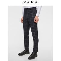 Western-style trousers ZARA other Sea blue 36 (190/92A) 04055502401-24 Polyester 49% viscose (viscose) 49% polyurethane elastic (spandex) 2% Summer of 2018 Same model in shopping mall (sold online and offline)