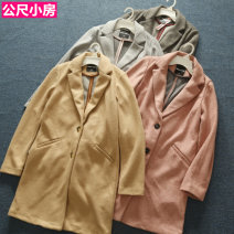 woolen coat Autumn 2020 XS,S,M,L,XL,34#,36#,38#,40#,42# Dark grey, light grey, beige, pink polyester 31% (inclusive) - 50% (inclusive) Medium length Long sleeves street Single breasted routine tailored collar Self cultivation Europe and America