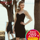 Dress / evening wear Party company annual meeting daily appointment Advanced customization - contact customer service SML black sexy Short skirt zipper