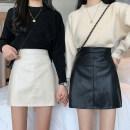 skirt Spring 2021 S,M,L Apricot, black Short skirt commute High waist 18-24 years old 1/7 Korean version