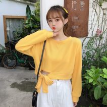 Sweater / sweater Summer 2020 Apricot, rose, white, green, yellow, black, orange Average size Long sleeves have cash less than that is registered in the accounts Socket singleton  routine Crew neck commute other 18-24 years old Korean version 4-9