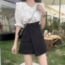 Fashion suit Summer 2021 S. M, l, XL, one size fits all White coat , Blue top , White skirt , Black skirt 18-25 years old 4-8