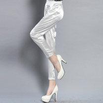 Casual pants 14 black [Capris], 14 white [Capris], 14 light Khaki [Capris], 14 Khaki [Capris], 13 black [Capris], 13 white [Capris], 13 Khaki [Capris], 13 light Khaki [Capris] S,M,L,XL,2XL,3XL,4XL Spring 2020 Ninth pants Haren pants Natural waist Versatile Thin money 25-29 years old 30% and below