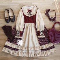 Lolita / soft girl / dress Girl's Lolita wardrobe Only dress, dress + Hair Band L,M,S No season goods in stock Lolita, soft girl, lovely girl