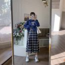 Women's large Autumn 2020 Single sweater, single skirt L [100-120 Jin recommended], XL [120-140 Jin recommended], 2XL [140-160 Jin recommended], 3XL [160-180 Jin recommended], 4XL [180-200 Jin recommended] Two piece set commute moderate Long sleeves routine Three dimensional cutting 18-24 years old