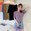 Women's large Summer 2020 Purple, black, ginger, dark blue, Avocado Green M [recommended 85-100 Jin], l [100-120 Jin], XL [120-140 Jin], 2XL [140-160 Jin recommended], 3XL [160-180 Jin recommended], 4XL [180-200 Jin recommended] Knitwear / cardigan singleton  commute easy thin Socket Short sleeve