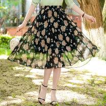 skirt Summer 2021 M,L,XL,2XL,3XL,4XL Decor 1, decor 2, decor 3, decor 4, decor 5, decor 6, decor 7, decor 8, decor 9, decor 10, decor 11, decor 12, decor 13, decor 14, decor 15# Mid length dress Versatile High waist A-line skirt Decor Type A 25-29 years old XH927 81% (inclusive) - 90% (inclusive)