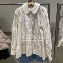 shirt Ivory white S,M,L Spring 2021 other 31% (inclusive) - 50% (inclusive) Long sleeves Doll Collar Straight cylinder STEO&UR YU03S2BX2001