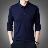 T-shirt / sweater Extravagant fashion Fashion City Dn8810 / dark blue dn8810 / green dn8810 / red dn8810 / Black XXL M L XL 3XL routine Socket Lapel Long sleeves DN8810 spring Slim fit 2021 Polyacrylonitrile fiber (acrylic fiber) 69.7% viscose fiber (viscose fiber) 30.3% go to work Basic public youth