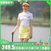 Golf apparel Yellow, white, white short sleeves + yellow skirt XXL,M,L,XL,S female G-LIFE t-shirt  G-SN180081/G-KN180043