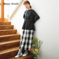 skirt Spring 2021 MP LL 3L MT LT M L 502c black and white check longuette commute Natural waist lattice 30-34 years old CS364122-*LKD502c 51% (inclusive) - 70% (inclusive) Sunny clouds / sunnykula cotton literature Cotton 54% flax 46%