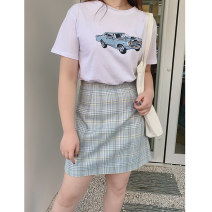 Women's large Spring 2021 Size 1 (about 115-130 kg), size 2 (about 130-145 kg), size 3 (about 145-160 kg), size 4 (about 160-175 kg), size 5 (about 175-190 kg) skirt singleton  Charming Witch Short skirt