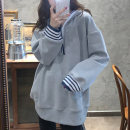 Sweater / sweater Spring 2021 Gray, black M,L,XL,2XL,3XL,4XL Long sleeves Medium length Socket singleton  easy raglan sleeve Solid color 18-24 years old 51% (inclusive) - 70% (inclusive) cotton