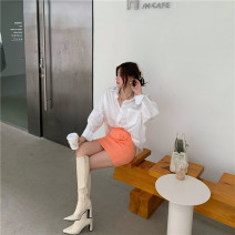 Fashion suit Spring 2021 S M L White shirt blue shirt orange skirt white skirt 18-25 years old Town angel Other 100% Exclusive payment of tmall