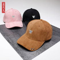 Hat Corduroy W Caramel w Black 3x pink 3x Caramel 3x Black w Pink Adjustable 55-59cm Baseball cap Spring autumn winter currency street Young couple yes