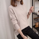 sweater Winter 2020 S M L XL Long sleeves Socket singleton  Regular Viscose 31% (inclusive) - 50% (inclusive) High collar thickening commute routine Solid color Straight cylinder Regular wool Keep warm and warm 25-29 years old A lady in love with a concubine nylon Pure e-commerce (online only)