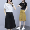 Women's large Summer 2020 XL 2XL 3XL 4XL 5XL trousers Two piece set commute easy moderate Socket Short sleeve Cartoon animation Korean version Crew neck routine cotton Three dimensional cutting routine Magic shield 25-29 years old Embroidery longuette Other 100% Pure e-commerce (online only)