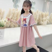 Home skirt / Nightgown Cotton honey 8 (100-110) cm 10 (110-120) cm 12 (120-130) cm 14 (130-140) cm 16 (140-150) cm 18 (150-155) cm 20 (155-160) cm 22 (160-165) cm Viscose fiber (viscose fiber) 47.5% cotton 47.5% polyurethane elastic fiber (spandex) 5% summer female Home Class B 1M--STA3-10007