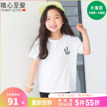 T-shirt White black Idealist favorite  100/12-14kg_ S 110/14-17kg_ M 120/17-20kg_ L 130/20-25kg_ XL 140/25-30kg_ XXL 150/30-35kg_ 3XL 160/FREE female summer leisure time There are models in the real shooting cotton other Cotton 100% Class B Summer 2021