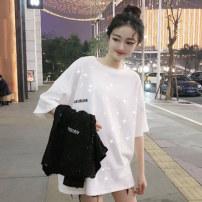 Women's large Summer 2021 White black S M L XL XXL M329 Mei Wei Other 100%