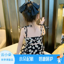 Dress black female Other / other 80cm,90cm,100cm,110cm,120cm,130cm Other 100% summer Korean version Skirt / vest other other A-line skirt x55163 Class B 2 years old, 3 years old, 4 years old, 5 years old, 6 years old, 7 years old Chinese Mainland