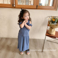 suit Other / other Black, blue 90cm,100cm,110cm,120cm,130cm,140cm female summer Korean version Short sleeve + pants 2 pieces routine There are models in the real shooting Socket nothing Solid color other elder Expression of love other Other 100% Seven, three, six, two, five, four Chinese Mainland