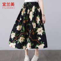 skirt Summer 2021 Average size Blue black longuette commute High waist A-line skirt Decor Type A 25-29 years old YLM2021XL5615A# More than 95% Chiffon Yilanmei other pocket literature Other 100% Pure e-commerce (online only)