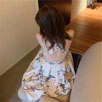 Dress Summer 2021 Picture color dress S M L XL Short skirt singleton  Sleeveless commute stand collar High waist Decor Socket A-line skirt other Others 18-24 years old Type A Century girl Korean version More than 95% other Other 100% Pure e-commerce (online only)