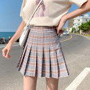 skirt Summer of 2019 XXS XS S M L XL XXL grey Short skirt Versatile High waist Pleated skirt Solid color Type A 18-24 years old KF2097 81% (inclusive) - 90% (inclusive) MC mecover / micafur polyester fiber Polyester 89.2% polyurethane elastic fiber (spandex) 10.8%