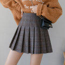 skirt Winter of 2019 XS S M L XL XXL 07 gray grid 07 Khaki grid Short skirt Versatile High waist Pleated skirt lattice Type A 18-24 years old KF1319 More than 95% MC mecover / micafur polyester fiber Polyester 100% Exclusive payment of tmall