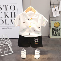 suit Mother and baby 80cm 90cm 100cm 110cm 120cm male summer leisure time Short sleeve + pants 2 pieces Thin money No model Socket nothing Cartoon animation cotton children Expression of love Class A 12 months 9 months 18 months 2 years 3 years 4 years 5 years old