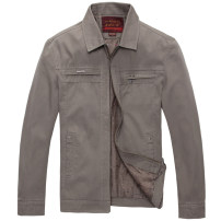 Jacket Other / other Business gentleman Dark grey, light khaki, light Khaki (stand collar), dark grey (stand collar) 175,180,185,190,195 thin easy Other leisure autumn Long sleeves Wear out Lapel Business Casual middle age routine Zipper placket 2019 Cloth hem No iron treatment Loose cuff Solid color